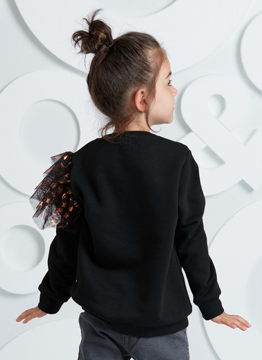 Mushi Sweatshirt Siyah